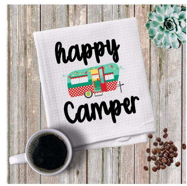 happy camper towel
