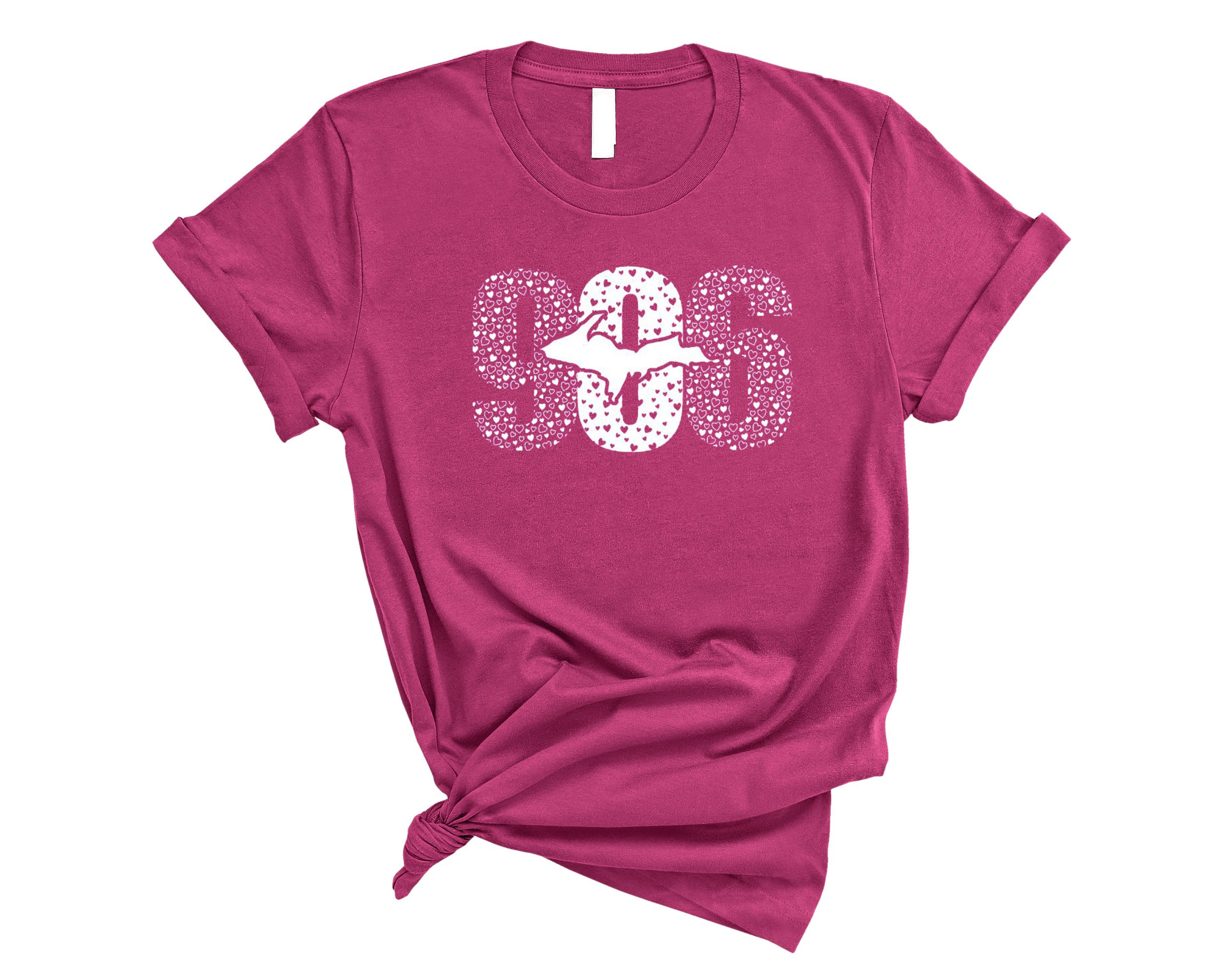 906 hearts pink shirt