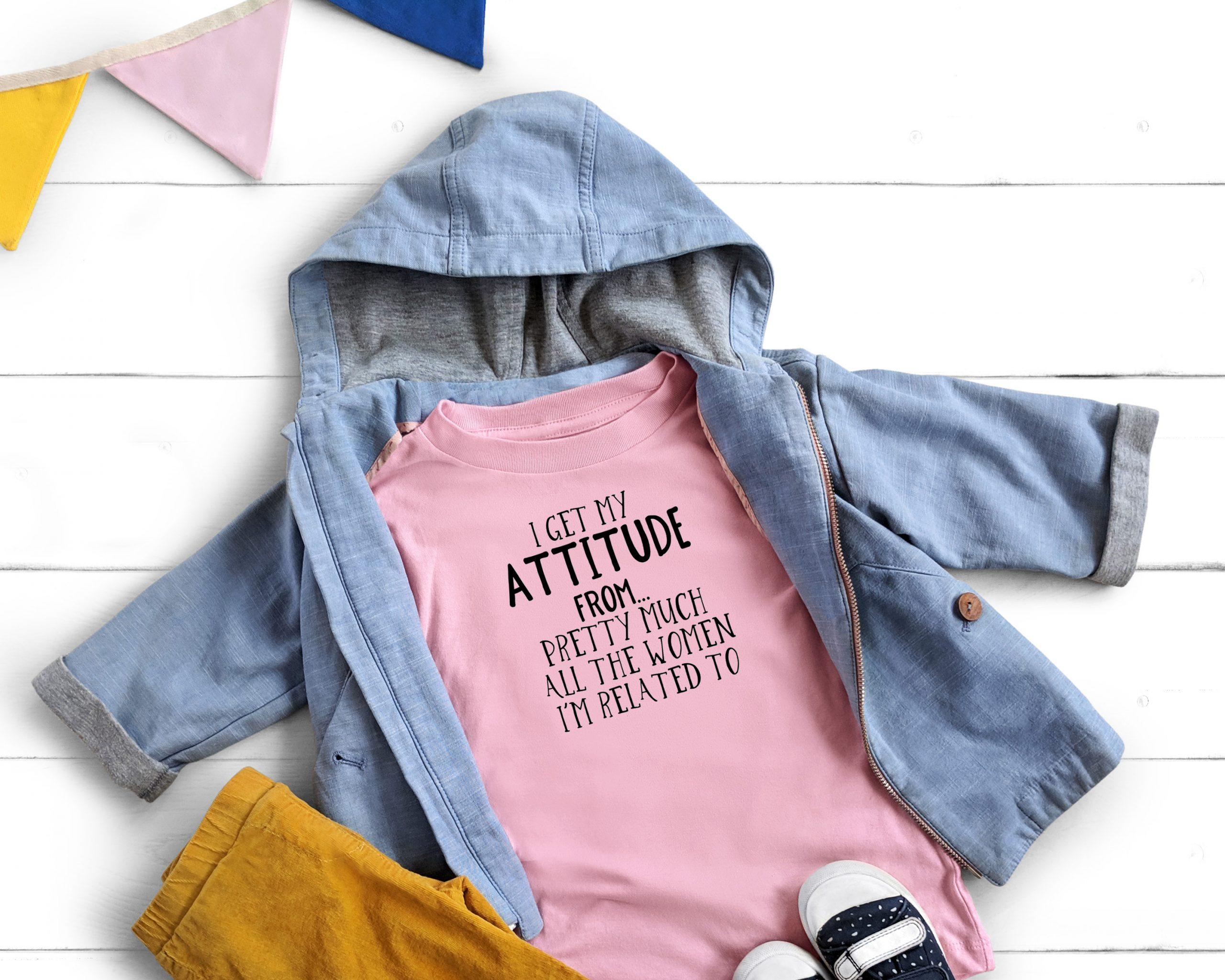 attitude pink shirt
