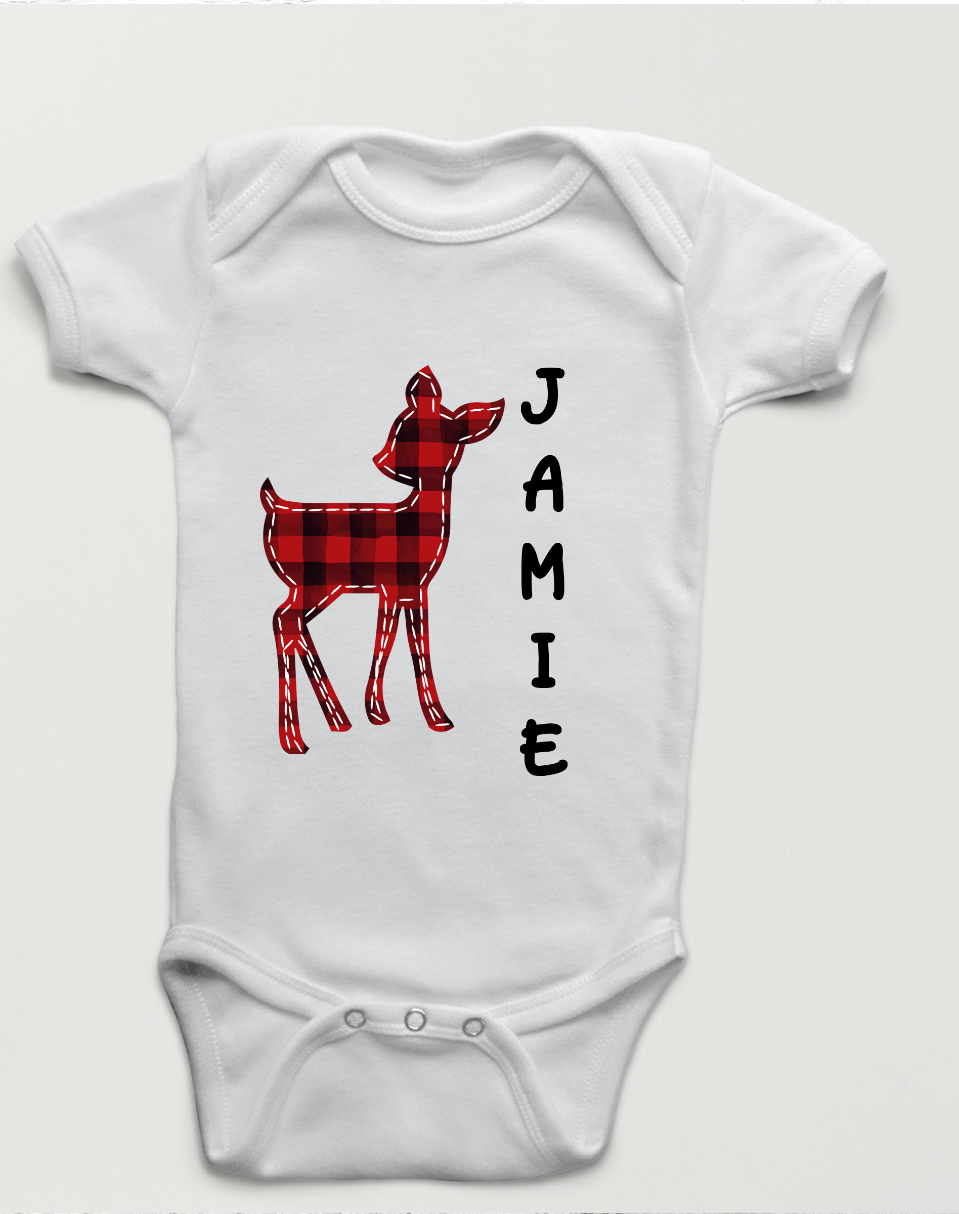 personalized plaid deer