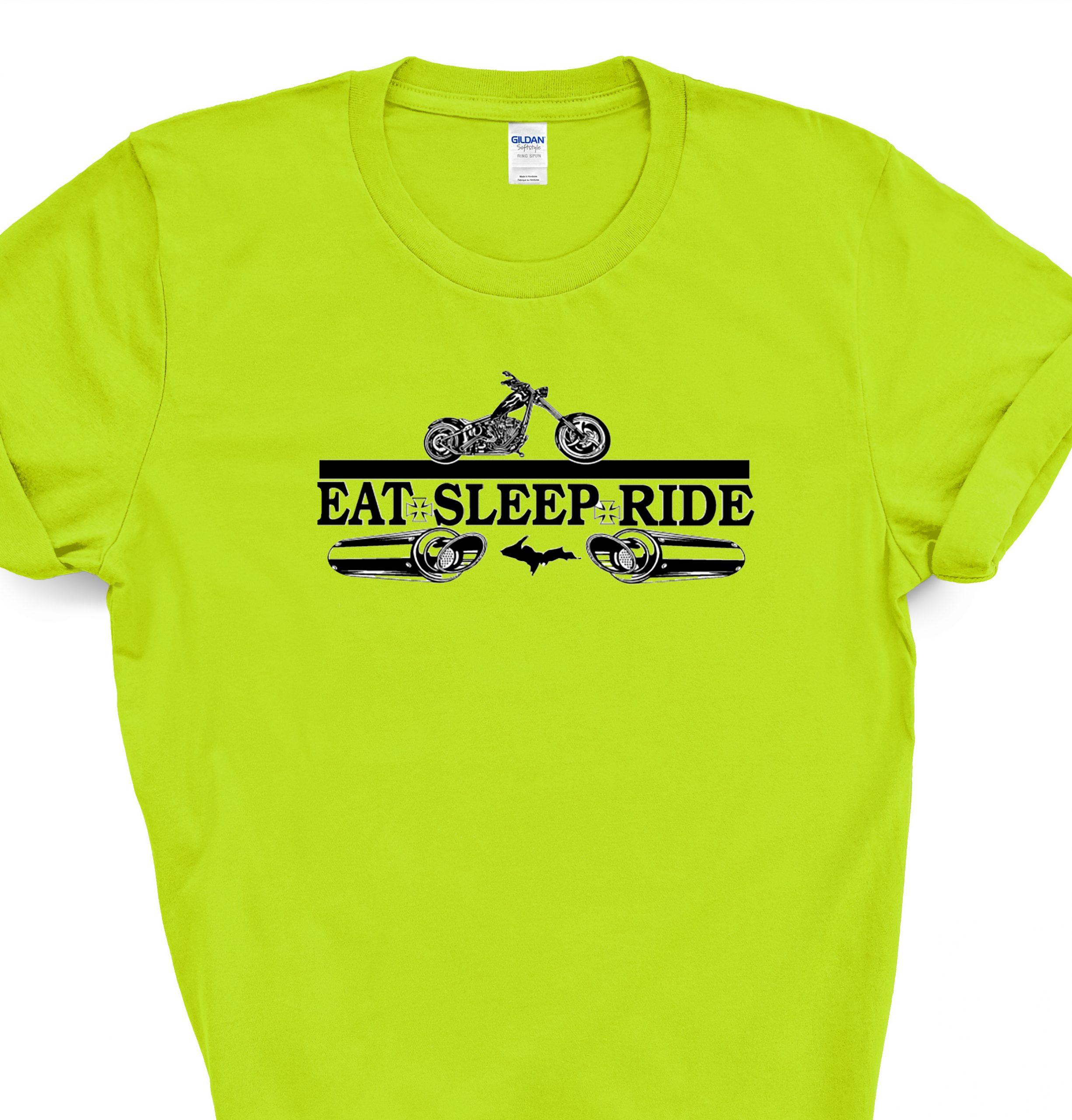 eat sleep ride yellow