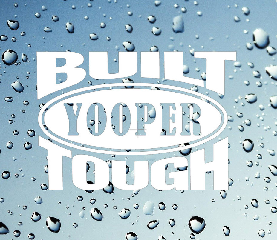 yooper tough sticker