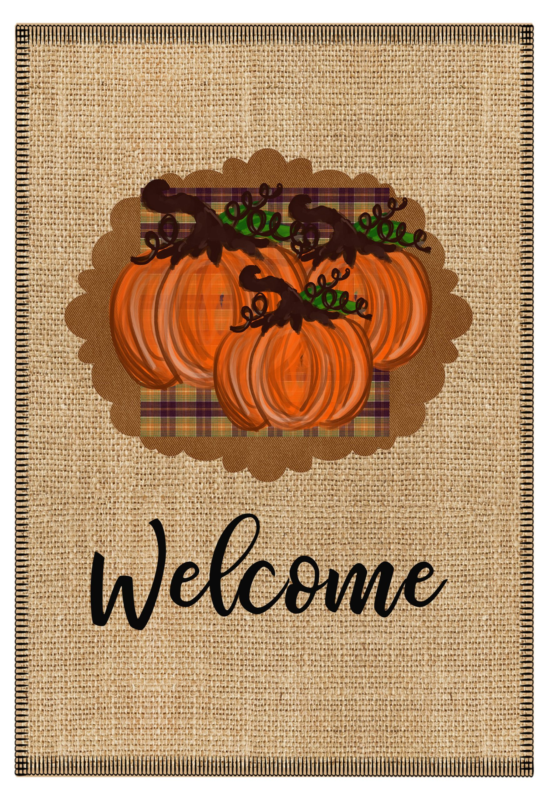 pumpkin flag welcome